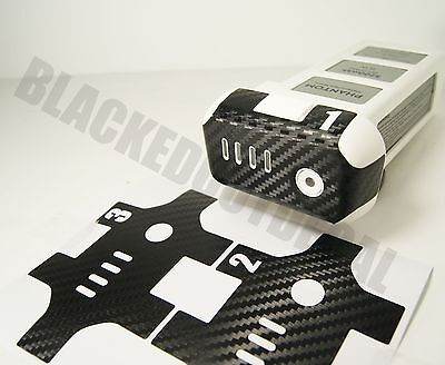 DJI Phantom Carbon Fiber Battery 1-3 Skin Stickers Graphic Wrap Decal 1 2 3 p3
