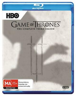 Game Of Thrones: Season 3 - Blu Ray Region B Free Shipping!
