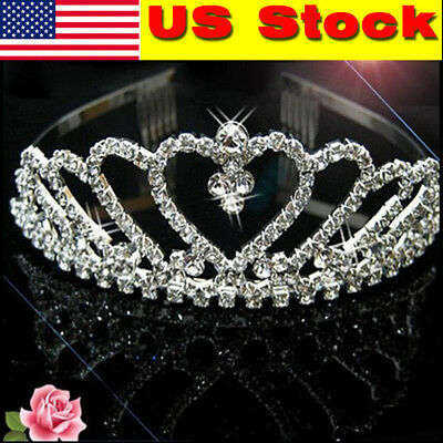 Fashion Bridal Bridesmaid Wedding Prom Rhinestones Crystal Crown Tiara Headband