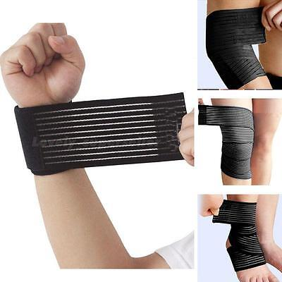 Wristband Knee pad Elastic Breathable Brace Support Arm Leg Ankle Elbow LSRG