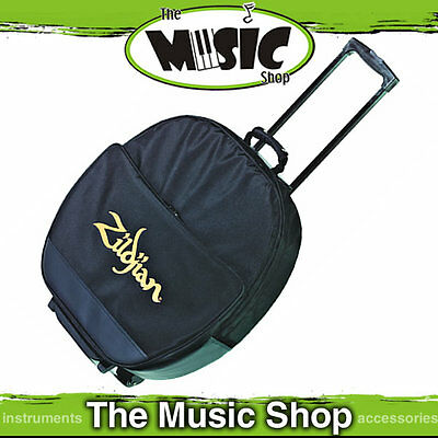 "New Zildjian 22"" Deluxe Cymbal Roller Bag - Drum Cymbal Bag with Wheels - P0650"
