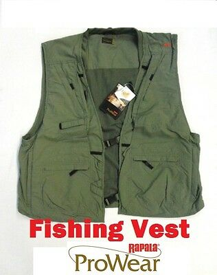 Rapala Fly Fishing Vest ProWear Size Small Olive Brand New
