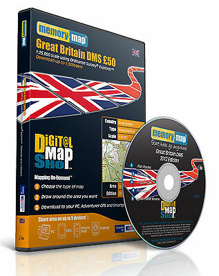 Memory-Map GB DMS 2012 OS Explorer 1:25,000 £50 - Download 1,500km2 [5003]