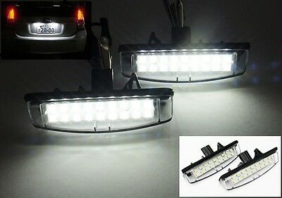 2x Toyota Licence Number Plate LED Light HID White Avensis Verso Prius Aurion UK