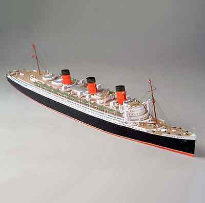 British Royal Mail Steamer RMS Queen Mary Ocean Liner Paper Model 1:400 Scale