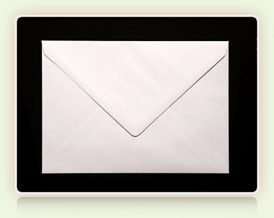 100 x C6 QUALITY WHITE ENVELOPES FOR A6 GREETINGS CARDS