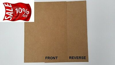 Natural  Kraft  Brown Card A4 170Gsm  100% Recycled- Ideal For Craft/weddings