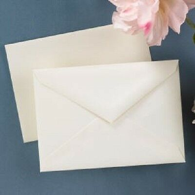 100 x A6 IVORY HAMMER POSTCARD STYLE CARD BLANKS & ENVELOPES-WEDDING INVITES ETC