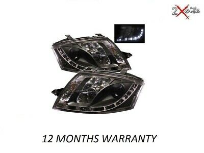 Audi Tt 1999-2007 8N Black Led Drl Daylight Running Lights Devil Eye Headlights