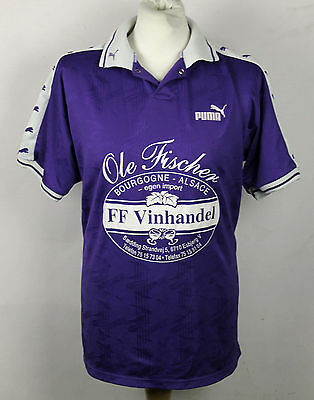 #10 Vintage Puma Football Shirt Mens Xl Denmark Esbjerg Rare Purple