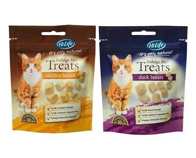 HiLife Indulge Me Cat Freeze Dried Real Natural Chicken Duck Breast Treats 10gm