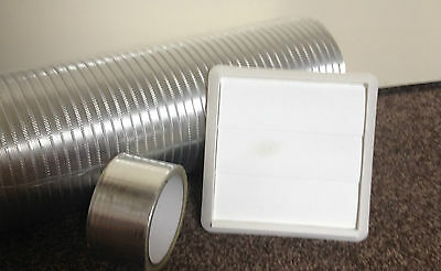 Whirlpool Silver cooker hood Duct Extend Kit (W)125mm