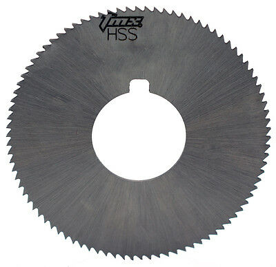 ".023"" Thick x 1-3/4"" Diameter x 5/8"" Arbor Hole 90 Teeth HSS Screw Slotting Saw"