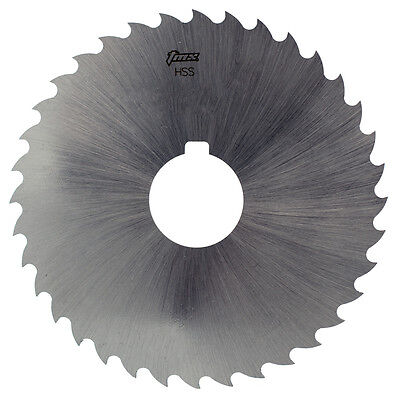 "1/16"" Thick x 4"" Diameter x 1"" Arbor Hole 36 Teeth HSS Plain Slitting Saw"