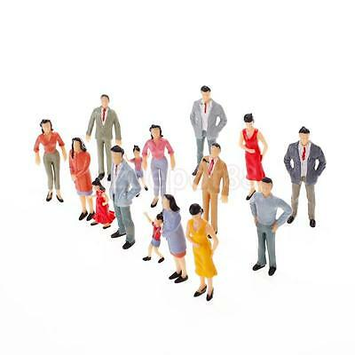 100 Assorted Painted People Figure Model Train Passenger Park Street 1:150 N