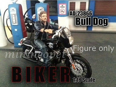 American Diorama Biker Figure For 1/18 Model Ad-23866 Bull Dog