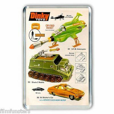 Retro Tv Nostalgia -  Ufo Shado Dinky Toys Advert - Jumbo Fridge Magnet