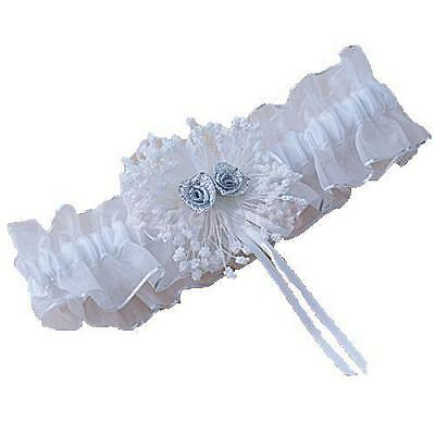 Elasticated Rose Flower Wedding Bridal Party Tossing Garter Lace Ribbon