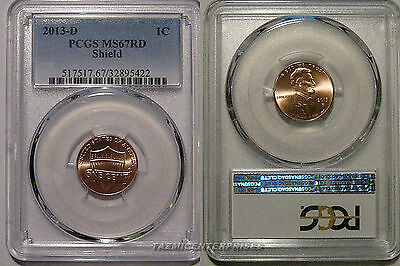 2013 D Lincoln SHIELD Cent 1c PCGS MS67RD
