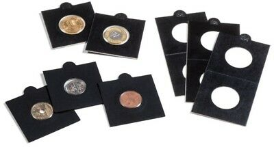 25 BLACK LIGHTHOUSE 17*5mm SELF ADHESIVE 2x2 COIN HOLDERS - Suit Threepence