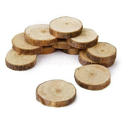 100 Rustic Natural Round Wood Pine Tree Slice Disc Wedding Centerpiece Decor