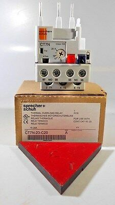 SPRECHER & SCHUH ct7n-23-c20 overload relay NEW IN THE BOX!