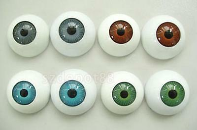 4PRS Half Round Hollow Eyes Eyeballs fit Mask Skull Halloween Party Props 1""
