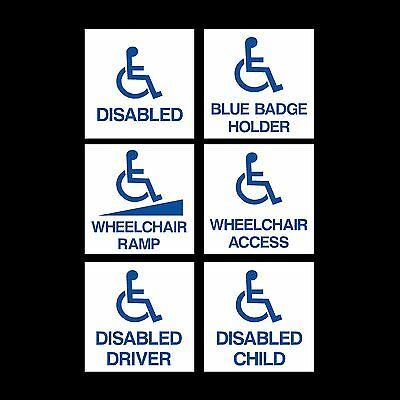 Disabled Access / Wheelchair / Blue Badge - External Sticker / Sign - 100x100mm