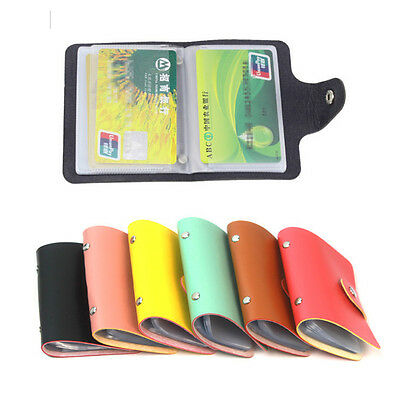 PU Leather Business ID Credit Card Slim Holder Handbag Purse Storage Case Pocket