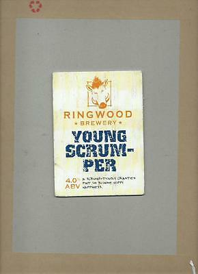 Ringwood Brewery Young Scrum-per Ale Beer Pump Clip Pub Bar Collectible 18