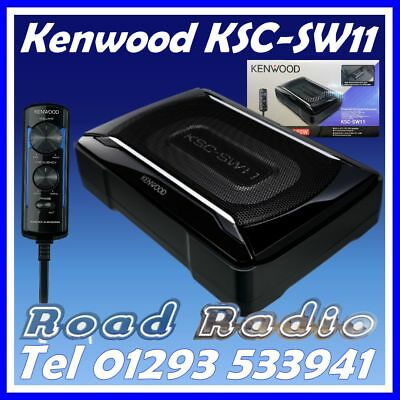 Brand New Kenwood KSC-SW11 SUB With Built In Amp, Includes Wiring Kit