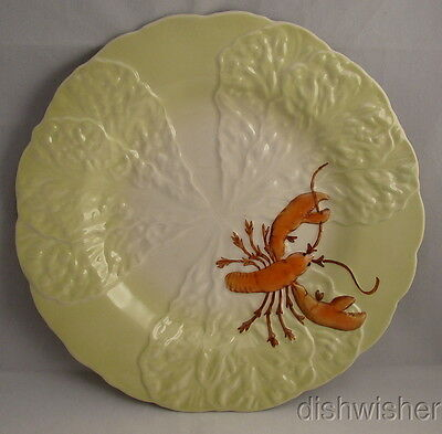 Vintage Carlton Ware LOBSTER SALAD WARE Luncheon Plate c1920 Yellow Green 9 1/4""
