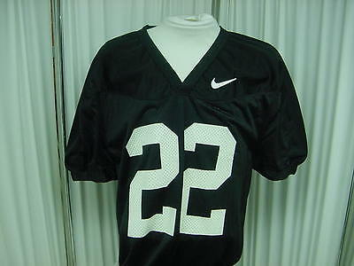 Authentic Black Nike Game/Practice Football Jersey Size- L #22 Jock Tagging