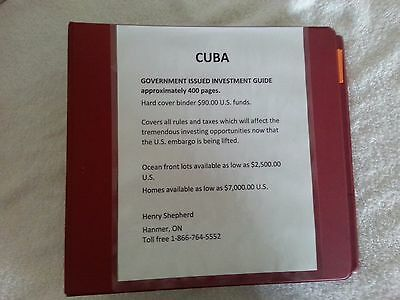 Cuba-Government Issued Investment Guide