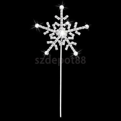 Crystal Rhinestone Snowflake Topper Frozen Cake Decorating Christmas Party