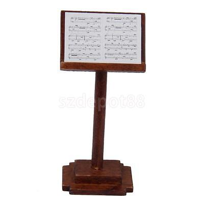 1:12 Scale Wooden Music Stand Dollhouse Miniature Instrument Accessory