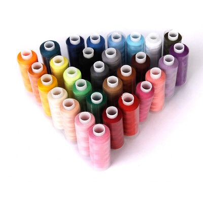 30 Spools Assorted Colors 100% Polyester Sewing Quilting Threads All Purpose