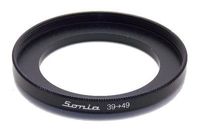 Metal Step up ring 39mm to 49mm 39-49 Sonia New Adapter