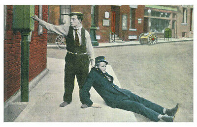 Buster Keaton Silent Film Movie Actor Comedian Retro Color Poster