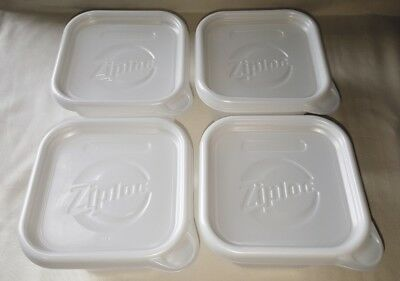 Ziploc Limited Edition White Holiday Containers 32oz 4 Count New in Box 4 CUPS