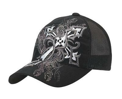 d69739448abb0 Blazin Roxx Womens Baseball Hat Embroidered Diagonal Cross Cap Black 1599301
