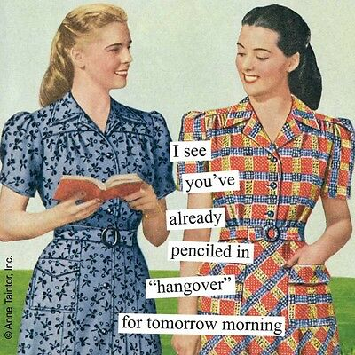 New Anne Taintor 40 Retro Fun Humor Sassy Witty Paper napkins gift - HANGOVER