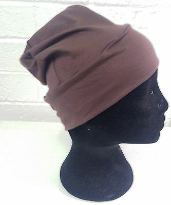 hijab cap brown, chemo cap, chemotherapy cap, cancer cap