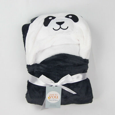 Baby Kid Toddler Cartoon Animal Panda Towel Wrap Hooded Bath Robe Bathrobe Gown