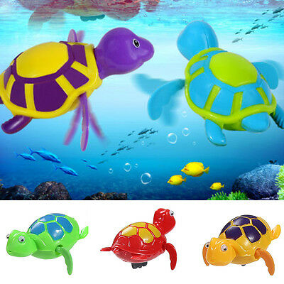 New Wind up Swimming Turtle Turtles Pool Animal Toys For Baby Kids Bath Time DA
