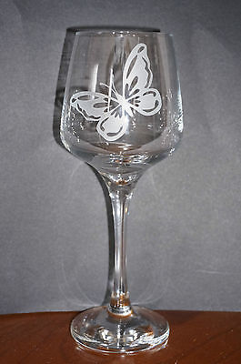 Butterfly Glasses glass hand made wicca Altar Goth glassware wine Yoga glass