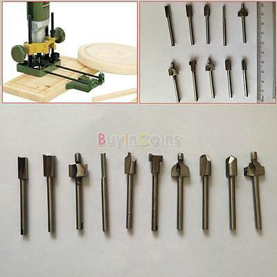 "10pcs Router Bit Kit Magic Steel Starter Set 1/8"" Shank 3mm Keyhole Tool US YU"