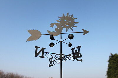 Weathervanes- Steel Sun and Moon Weathervane- NOW REDUCED