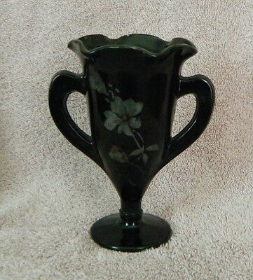 LE SMITH 1920/30s  Black Amythest Loving/Trophy Cup 5-3/4in. tall.