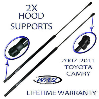 Two New Front Hood Lift Supports Shock Strut Damper Prop Rod Arm For 07-11 Camry